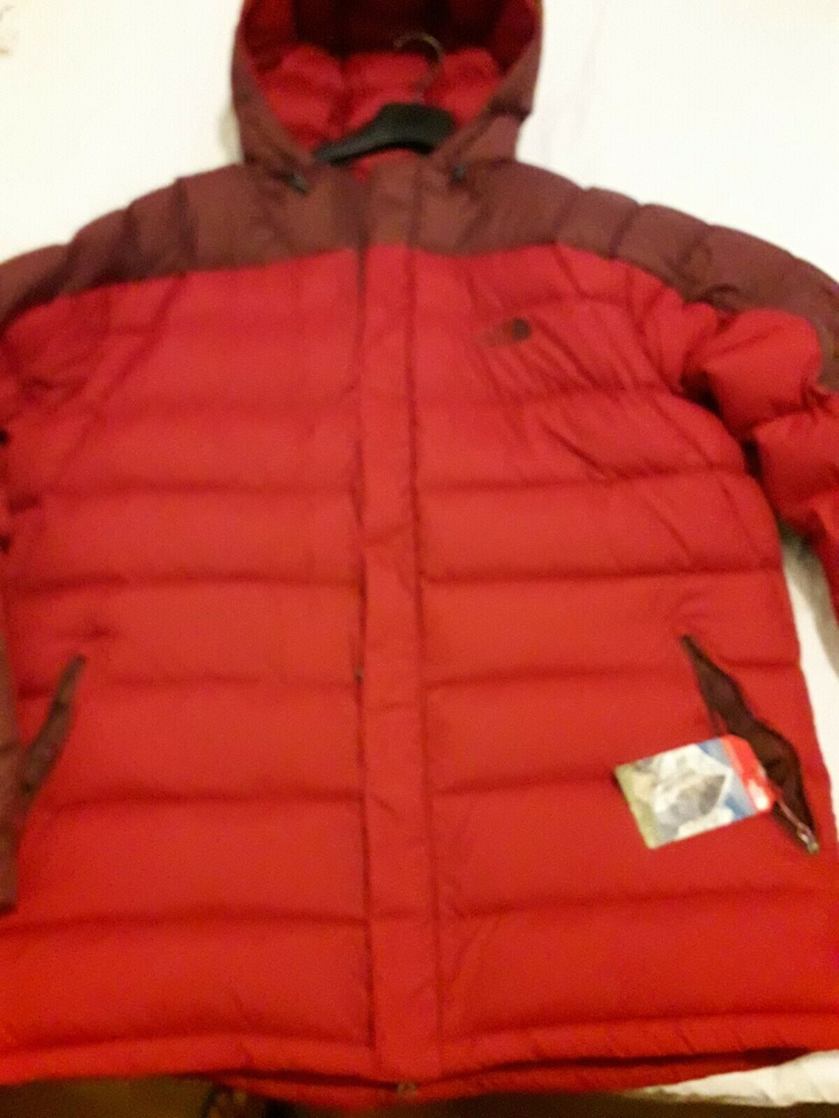 The north face argentum hoodie down piumino xxl NWT coat jacket red