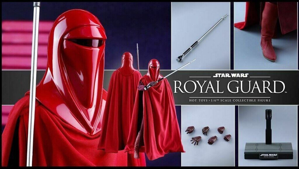 Star Wars Hot Toys Royal Guard 1 6 Scale Figure Set of Two in Unopened Box
