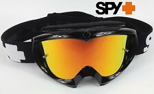 Spy Optics Targa 2 Alloy Motocross Mx Goggles Black Con Fuego Lente Espejo Nuevo