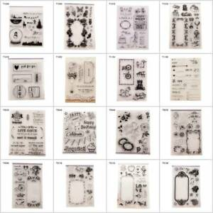 Clear-Silicone-Rubber-Stamp-Transparent-Cling-Diary-Scrapbooking-Card-DIY-Decors