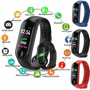 Fitness-Tracker-Smart-Band-Watch-Bracelet-Wristband-Blood-Pressure-HeartRate-M3