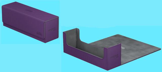 ULTIMATE GUARD ARKHIVE PURPLE XENOSKIN FLIP 400+ DECK CASE Card Storage Box MTG