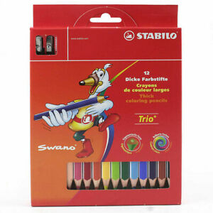 STABILO Swano Trio Maxi 203/2-12 Paquete 12 Lápices de Color Triangular