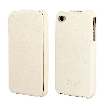 White Lychee Leather Case Cover Flip for iPhone 4 4S accessory