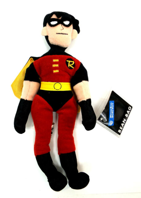 ROBIN Boy Wonder Bean Bag Warner Bros. Plush Toy Doll
