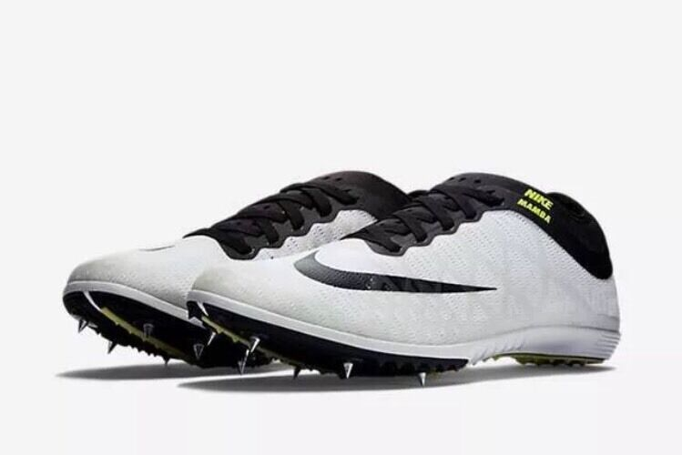 Nike mamba 3 3 3 track & field a spike le scarpe 706617-106 bianca / sz 12 volt. afc6a6