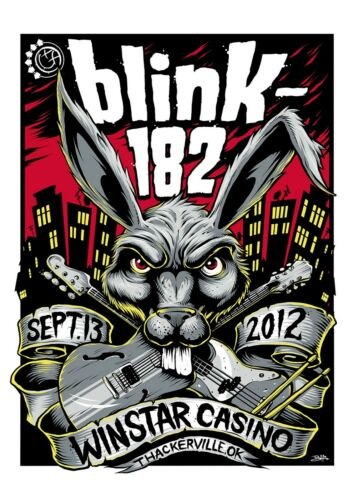 Blink-182 September 13th Winstar Casino Poster