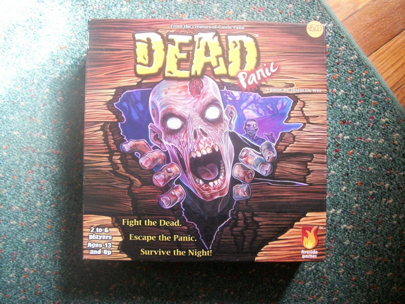 DEAD PANIC-- BOARD GAME BY JUSTIN DE WITT