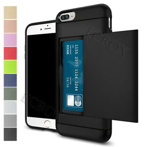 Shockproof-Credit-Card-Pocket-Holder-Rugged-Case-Back-Cover-For-iPhone-5-6-7-8-X