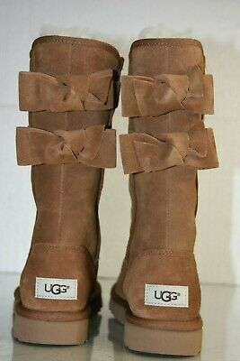 6 Size Boots Ladies Black Ugg With Uggs Eur 5 Buckles Uk