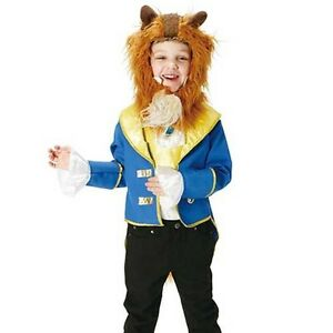 Image is loading NEW-Disney-Beauty-and-the-Beast-Beast-Kids-  sc 1 st  eBay & NEW Disney Beauty and the Beast Beast Kids costume boy 120cm-140cm ...