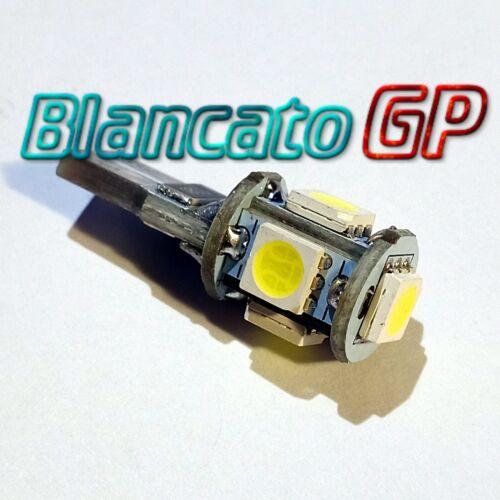 Lampada LED T10 W5W 5 SMD 5050 6000K Luci di posizione interno targa 0.5W auto