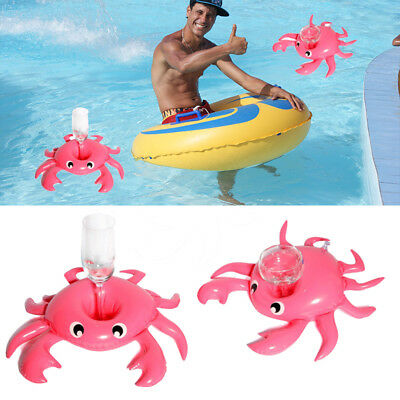 Crab Inflatable Drink Can Cup Holder Beach Baby Kids Boys Summer Floating Toys