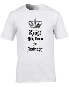 4b660233 Kings Are Born In January Mens T-Shirt Birthday Gift Idea Royalty ...
