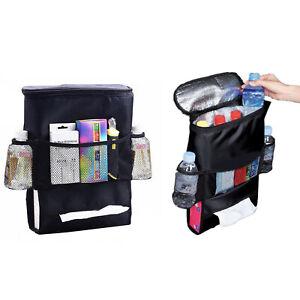 Car Seat Back Organizer Holder Multi-Pocket Travel Cooler Hanging Storage Bag