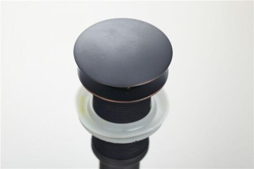 e-pak Oil Rubbed Bronze Bathroom Vessel Sink w//o Overflow Pop Up Drain Assembly
