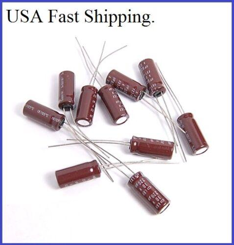 12PCS 10V 220UF NCC ELECTROLYTIC CAPACITORS 6X15MM LXF 10v220uf