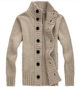 New-Mens-Winter-Casual-Sweater-Cardigan-Knitted-Coat-Jacket-Thick-Warm-Knitwear