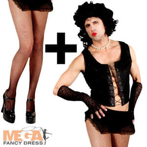 Transvestite Dr Frank n Furter + Tights Rocky Horror Fancy Dress ... e3b1b8c61