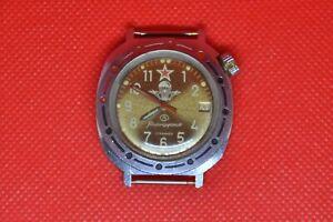 Vintage-VOSTOK-KOMANDIRSKIE-Sowjetische-UdSSR-U-Boot-Militaer-Armbanduhr-2414a