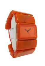 Nixon A726 878 The Vega: Women's Marmalade Stretch Band Lucite Analog Watch