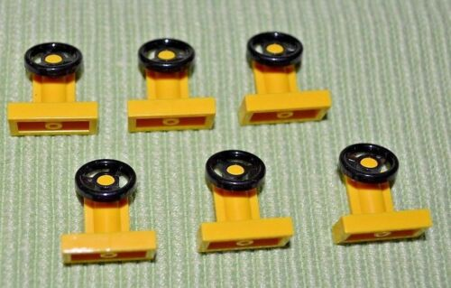 Yellow Car Steering Wheels ~ Lego ~ NEW ~ Star Wars Auto 6