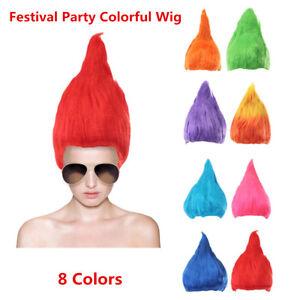 Adult-Troll-Style-Festival-Party-Colourful-Elf-Pixie-Wig-Hair-Cartoon-Cosplay