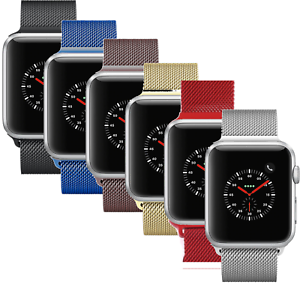 Apple-Watch-Series-3-42mm-38mm-Stainless-Steel-Aluminum-With-Milanese-Loop