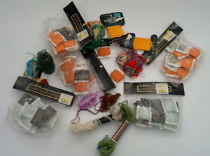 vintage embroidery floss thread yarn mixed lot colors coats and clark orange