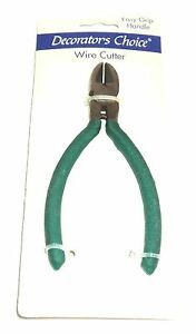 DECORATOR-039-S-CHOICE-Wire-Cutters-Easy-Grip-Handle-New-On-Card