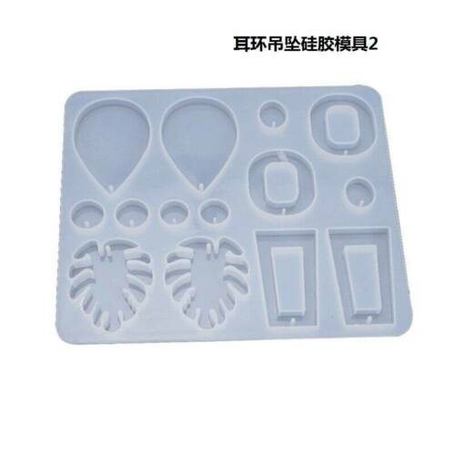 Silicone Earring Pendant Jewelry Mold Resin Casting Mould Tool DIY Epoxy Making