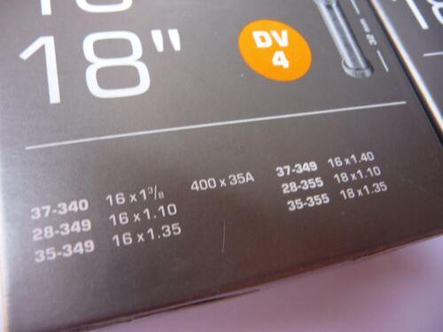 "18/"" Brompton Woods Valve 16x1 3//8/"" 16x1.35/"" INNER TUBE 2x Schwalbe /> DV4 /< 16/"""