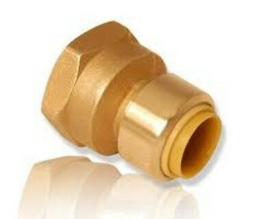 "3/8"" PEX x 3/8"" FPT, COPPER, CPVC Push Connect Fit ProBite Adapter PB802F"