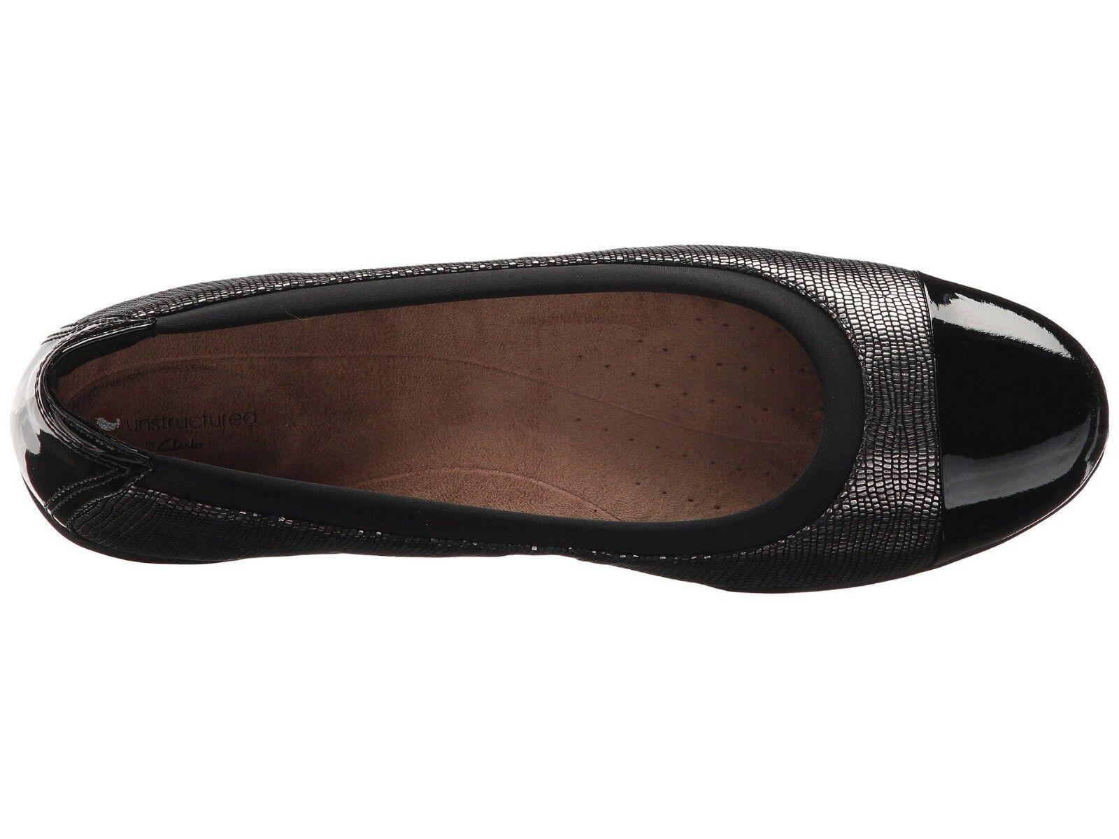 Women/'s Shoes Clarks NEENAH GARDEN Cap Toe Ballet Flats 32503 GUNMETAL *New*