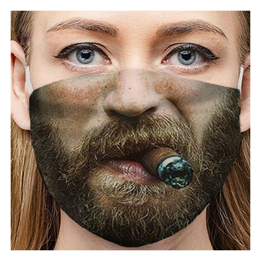 Quick-drying Mouth Masks Adult Unisex Funny Print Windbreak Outdoor Riding Mask1