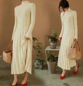 mouwen truijurk Gebreide Volledige Slankeslanke blouse lengte Lange Dameshoge B385 mouwen F1lKcTJ