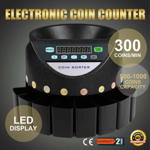Contador de Moneda Clasificador Automático Pantalla LED Detector Falso Popular