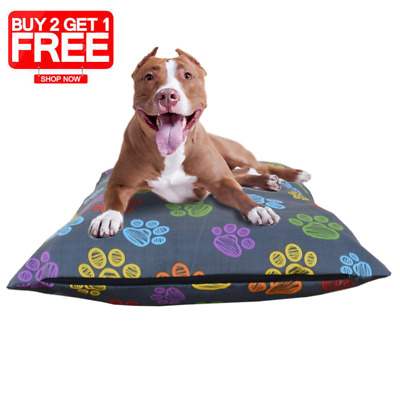 Pet Dog Bed Polycotton Cushion Cover Zipped Removable Cover Only Clearance