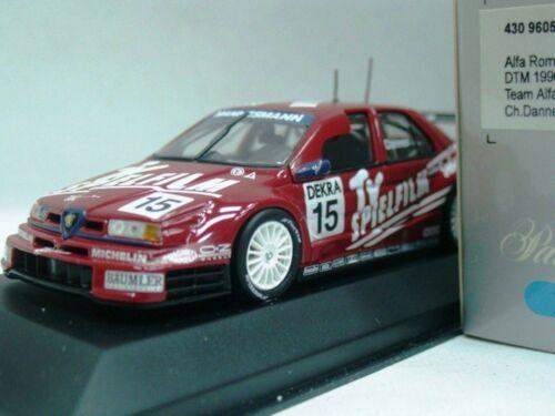 Wow extremadamente raro de Alfa Romeo 155 V6 ITC//DTM 1996 15 Danner 1:43 Minichamps