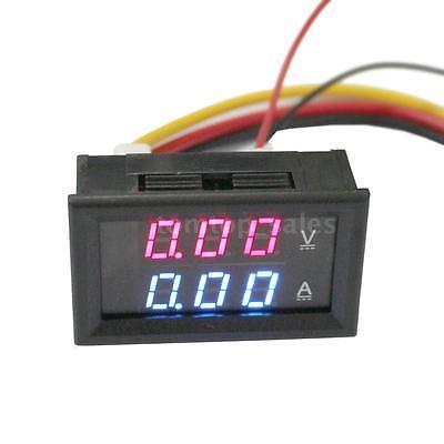 DC100V 300A Dual Digital Anzeige Voltmeter Amperemeter Panelmeter Strom-Shunt