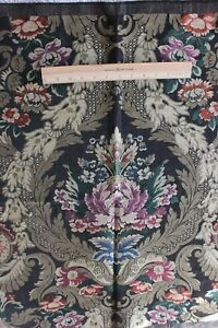 """Vintage French """"Soierie"""" Heavy Gold Metallic Jacquard Tapestry Fabric c1920"""