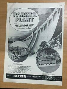 1954-Parker-Plante-Leicester-Enorme-Vintage-Annonce-35cm-x-25cm