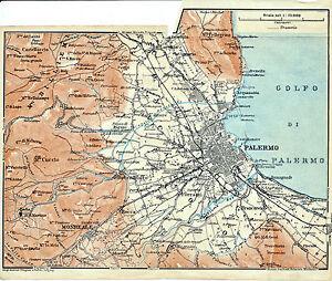 Palermo-Contorni-1911-picc-carta-orig-M-Pellegrino-Monreale-Boccadifalco-Baida