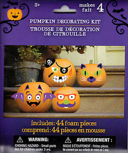 Image Is Loading New Pumpkin Decorating Kit Makes 4 Foam