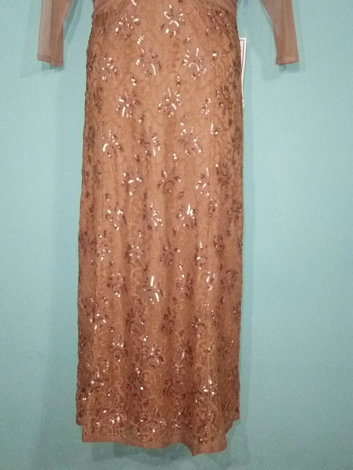 Romans Women Dress Full Length Lace Lace Lace and Sequin  Dress  Size 16W MSRP  219 91bc33