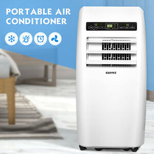 Portable-12000-BTU-Air-Conditioner-Dehumidifier-AC-Function-Remote-w-Window-Kit