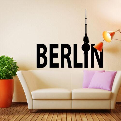 447+ Wall Tattoo-Berlin TV tower Lettering Germany Skyline