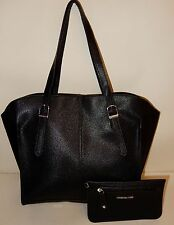 London Fog Graham Tote with Clutch in Black