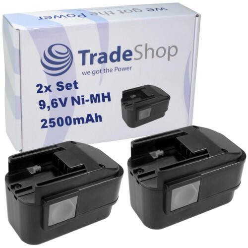 2x AKKU 9,6V 2500mAh für AEG 2000 Battery Light PL Option BL Multi-volt-lamp