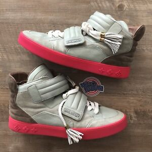 638a68f9abc Kanye West x Louis Vuitton Jaspers Pink Grey Suede Leather Sz LV 11 ...